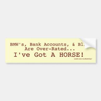 Adesivo Para Carro Bling contra a etiqueta do cavalo