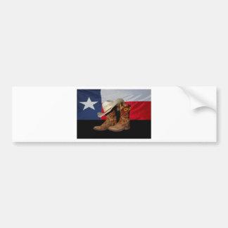Adesivo Para Carro Botas e Hat.jpg de Texas