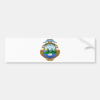 Adesivo Para Carro Brasão de Costa Rica - escudo de Costa Rica