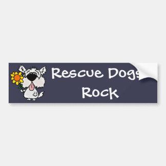 Adesivo Para Carro Cão de filhote de cachorro desgrenhado branco