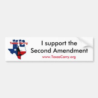 """Adesivo Para Carro Carregar de Texas """"eu apoio"""" o autocolante no"""