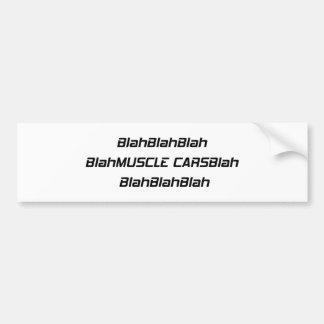 Adesivo Para Carro Carro blá do músculo blá