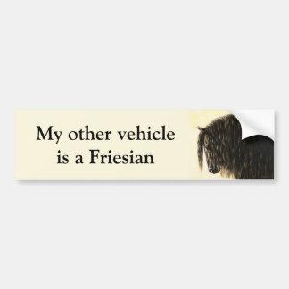 Adesivo Para Carro Cavalo de esboço preto do frisão