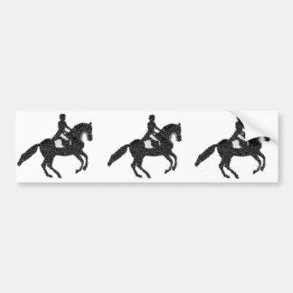 Adesivo Para Carro Cavalo e cavaleiro do mosaico de Bumpersticker- do
