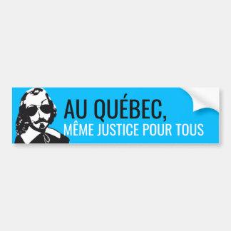 Adesivo Para Carro Champlain Hipster Quebeque Justiça - o VOSSO