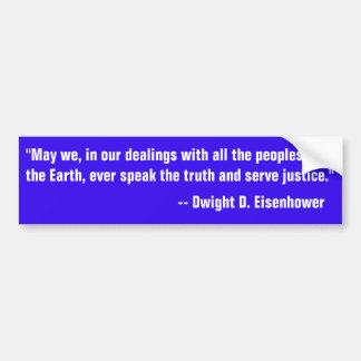 Adesivo Para Carro Citações de Eisenhower em falar a verdade