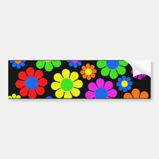Adesivo Para Carro Colagem da flor do hippy