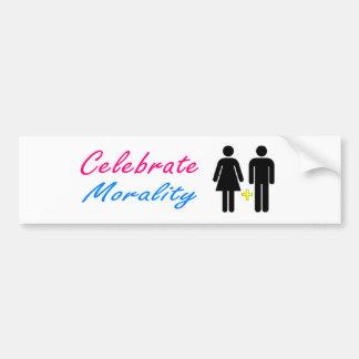 Adesivo Para Carro Comemore o casamento moral, tradicional