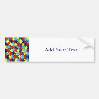 Adesivo Para Carro Consciência-Quebra-cabeça do autismo por Shirley