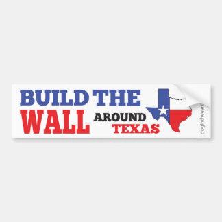 Adesivo Para Carro Construa a parede em torno de Texas