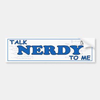 Adesivo Para Carro Conversa Nerdy a mim decalque engraçado do geek