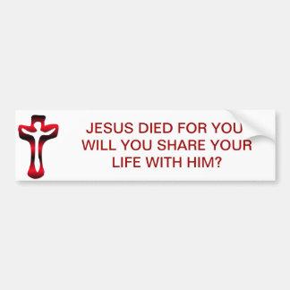 Adesivo Para Carro Crucificação - Jesus na cruz - Sexta-feira Santa