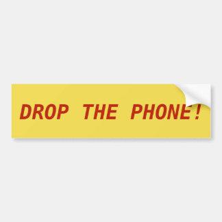 Adesivo Para Carro DEIXE CAIR O TELEFONE! etiqueta