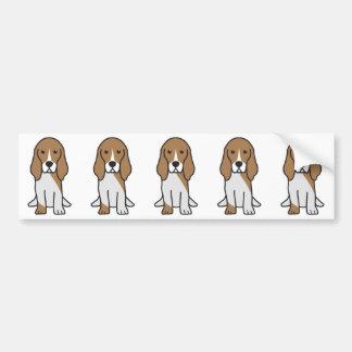 Adesivo Para Carro Desenhos animados artesianos do cão de Normand do