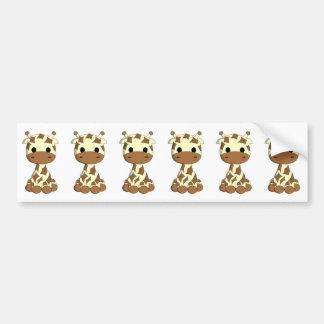 Adesivo Para Carro Desenhos animados bonitos do girafa do bebê