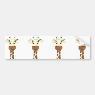 Adesivo Para Carro Desenhos animados engraçados do girafa