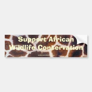 Adesivo Para Carro Design africano da foto da pele do girafa dos