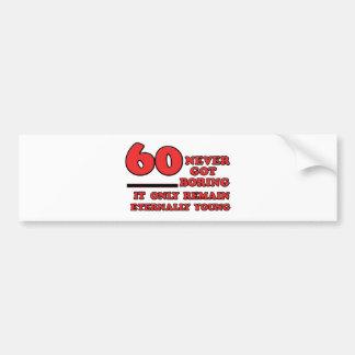 Adesivo Para Carro Design do aniversário das pessoas de 60 anos