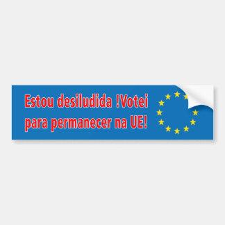 Adesivo Para Carro Desiludida de Estou! Na UE do permanecer de Votei