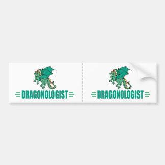 Adesivo Para Carro Dragão verde engraçado Dragonologist