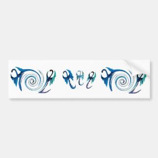 Adesivo Para Carro Dragões do azul da fantasia