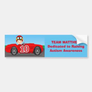 Adesivo Para Carro Equipe Matthew que aumenta a consciência do