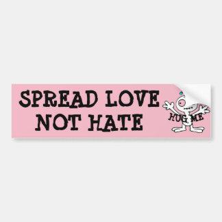 Adesivo Para Carro Espalhe abraços do ódio do amor não, autocolante