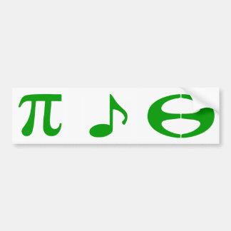 Adesivo Para Carro Esperanto da música da matemática - autocolante no