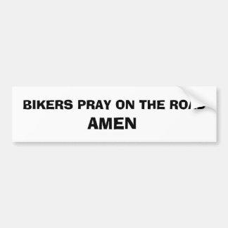 Adesivo Para Carro Etiqueta da oração do motociclista