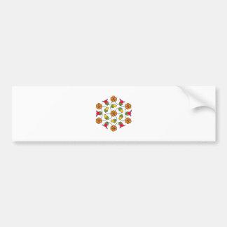 Adesivo Para Carro Etiqueta-Flor abundante Series#63
