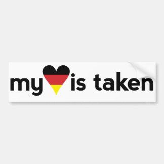 Adesivo Para Carro Eu amo Alemanha que meu coração é tomado o
