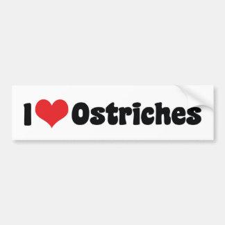 Adesivo Para Carro Eu amo avestruzes do coração - amante da avestruz