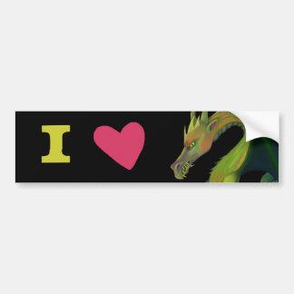 Adesivo Para Carro Eu amo dragões