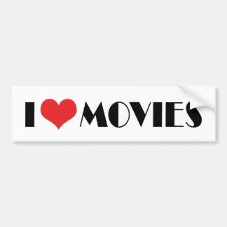 Adesivo Para Carro Eu amo filmes do coração - amante do filme
