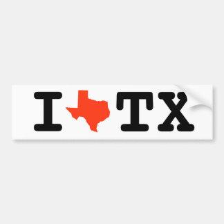 Adesivo Para Carro Eu amo o autocolante no vidro traseiro de Texas
