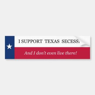 Adesivo Para Carro Eu apoio a separação de Texas