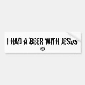 Adesivo Para Carro Eu comi uma cerveja com autocolante no vidro