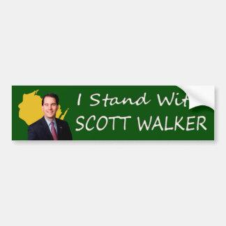 Adesivo Para Carro Eu estou com o caminhante de Scott de Wisconsin