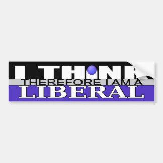 Adesivo Para Carro Eu penso que conseqüentemente eu sou um liberal