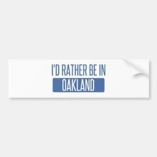 Adesivo Para Carro Eu preferencialmente estaria no parque de Oakland