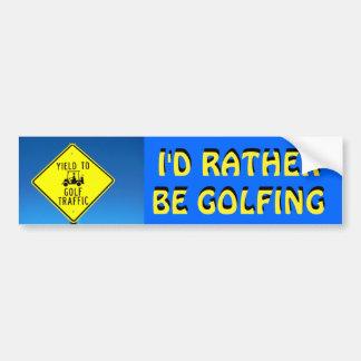 Adesivo Para Carro Eu preferencialmente Golfing