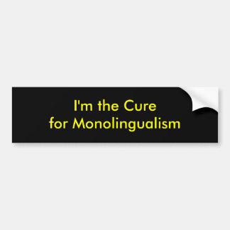 Adesivo Para Carro Eu sou a cura para o monolingualism