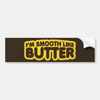 Adesivo Para Carro Eu sou liso como a manteiga