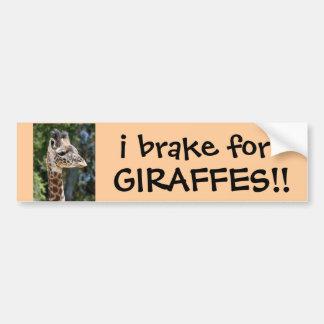 Adesivo Para Carro eu travo para GIRAFAS! autocolante no vidro