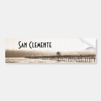 Adesivo Para Carro Foto do vintage da praia de Califórnia do cais de