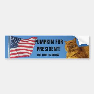 Adesivo Para Carro Gato da abóbora da bandeira dos EUA para o