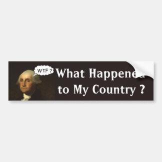 Adesivo Para Carro George Washington que gira em sua sepultura