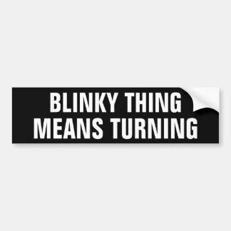 Adesivo Para Carro Giro dos meios da coisa de Blinky