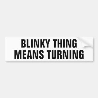 Adesivo Para Carro Giro dos meios das coisas de Blinky