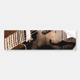 Adesivo Para Carro Guitarra ocidental de madeira da música country do